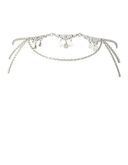 Charlotte Russe - Draped Chain & Coin Goddess Headpiece