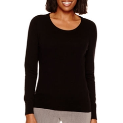 Worthington - Long-Sleeve Crewneck Sweater