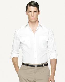 Ralph Lauren  - Black Label Stretch Poplin Military Shirt