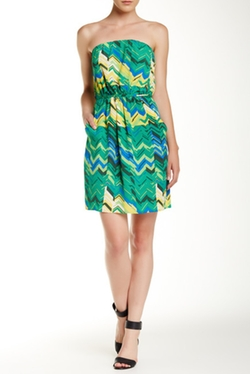 Collective Concepts - Printed Strapless Dress
