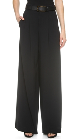Alice + Olivia - High Waist Double Pleat Pants