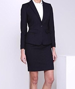 Ktny8888 - Notch Collar Jacket And Skirt Suit
