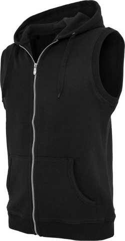 Urban Classics - Light Fleece Sleeveless Zip Hoodie