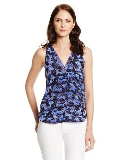 Rebecca Taylor  - Sleeveless Summer Storm Print Blouse