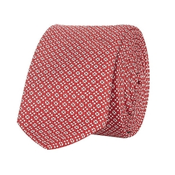 River Island - Red Geometric Print Tie