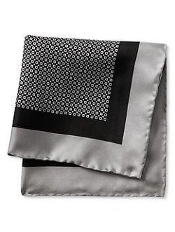 Banana Republic - Geo Chain Silk Pocket Square