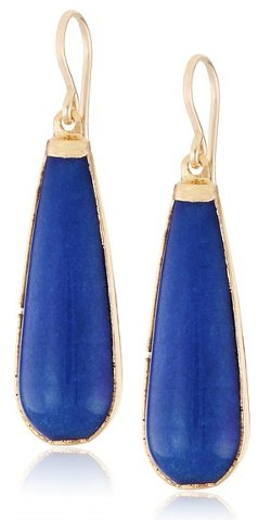 Devon Leigh - Foil Jade Drop Earrings