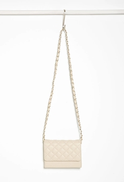 Forever 21 - Quilted Faux Leather Crossbody Bag
