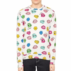 Au Jour Le Jour - Lips Printed Cotton Sweatshirt