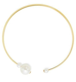 Kenneth Jay Lane - Faux Pearl-Capped Collar Necklace