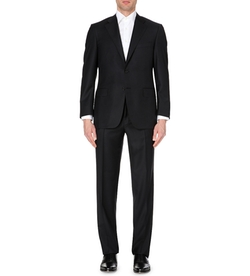Canali - Black Wool-Twill Suit