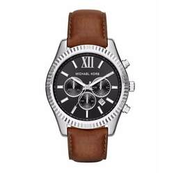 Michael Michael Kors - Lexington Leather Strap Watch
