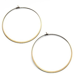 Michael Kors  - Thin Goldtone Hoop Earrings