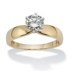 Lux - Gold Solitaire Engagement Ring