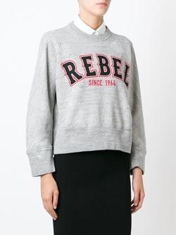 DSQUARED2 - Rebel Print Cropped Sweatshirt