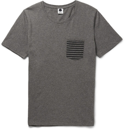 NN.07  - Todd Mélange Cotton T-Shirt
