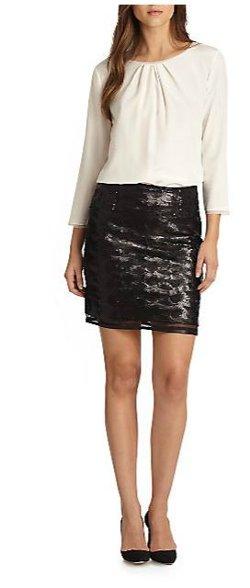 Elie Tahari - Alexis Sequin Skirt