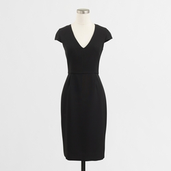 J. Crew Factory - Cap-Sleeve V-Neck Dress