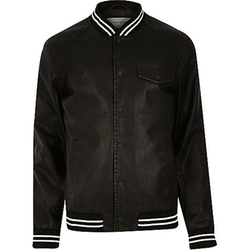 River Island - Casual Stripe Trim Varsity Jacket