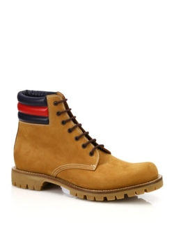 Gucci  - Marland Leather Lace-Up Boots