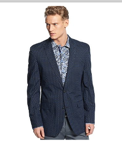Tallia Orange - Mini Dot Slim Fit Blazer