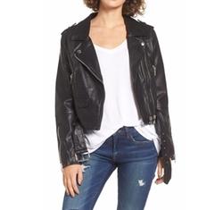 BLANKNYC  - Faux Leather Crop Moto Jacket