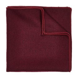River Island - Dark Red Pocket Square
