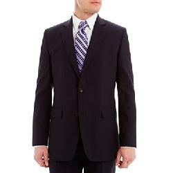 Stafford - Navy Pinstripe Suit Jacket
