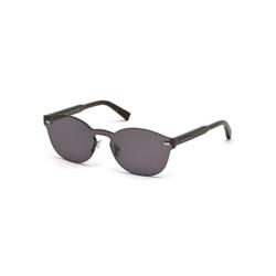 Ermenegildo Zegna  - Rimless Dark Havana Round Sunglasses