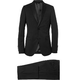 Gucci - Black Slim-Fit Wool Tuxedo Suit