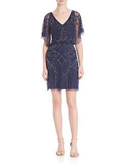 Aidan Mattox  - Embellished Blouson Dress