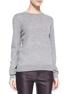 Vince  - Textured Jacquard Knit Sweatshirt
