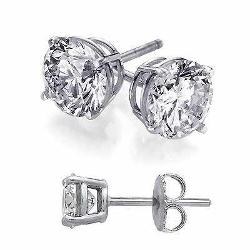 hypoallergenic earrings  - Sterling Silver Round Stud Earrings