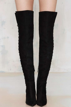 Schutz - Dudalina Lace-Up Thigh-High Boot