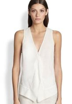 Donna Karan - Draped Stretch Silk Blouse