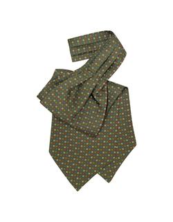 Forzieri - Multicolor Floral Print Silk Ascot Tie