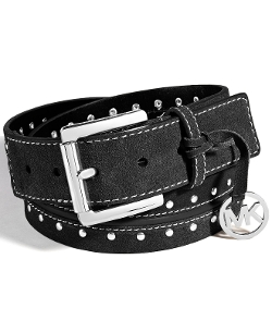 Michael Kors  - Suede Astor Studded Belt