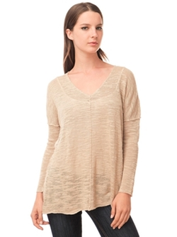 525 America  - Inside Out Seam V Neck Top