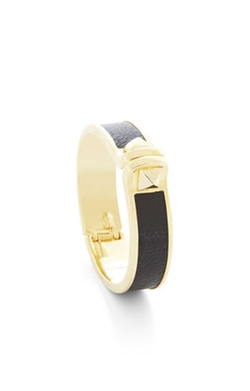 BCBGMAXAZRIA - Faux-Leather Pyramid Cuff