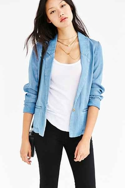 Silence + Noise -  Classic Chambray Blazer