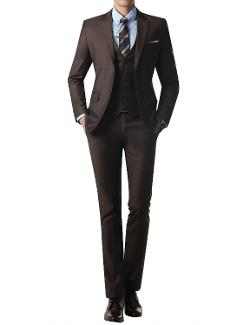 Doublju  - Mens Modern Slim Fit Suit