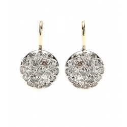 Roberto Marroni - Rhodium-Plated Diamond-Encrusted Earrings