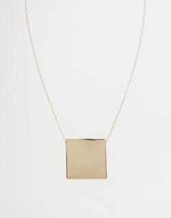 Asos - Sleek Square Necklace