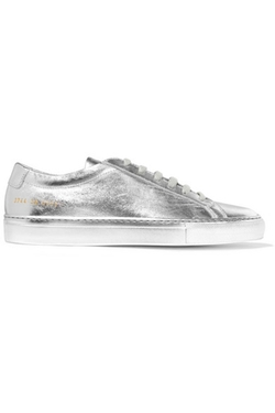 Common Projects - Original Achilles Metallic Leather Sneakers