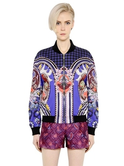 Mary Katrantzou - Printed Cotton Poplin Bomber Jacket