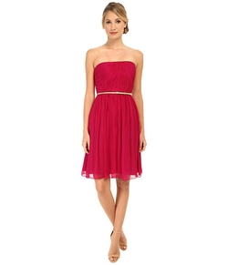 Donna Morgan - Strapless Chiffon Dress