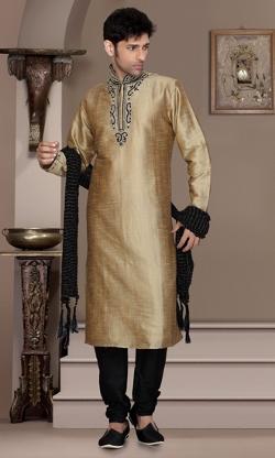 Indian Attire - Gold Color Kurta
