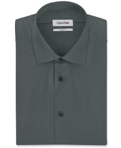Calvin Klein - Liquid Cotton Solid Dress Shirt