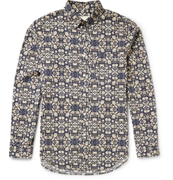 Club Monaco - Button-Down Printed Cotton Shirt