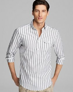 Gant by Michael Bastian  - Oxford Bar Stripe Pullover Button Down Shirt